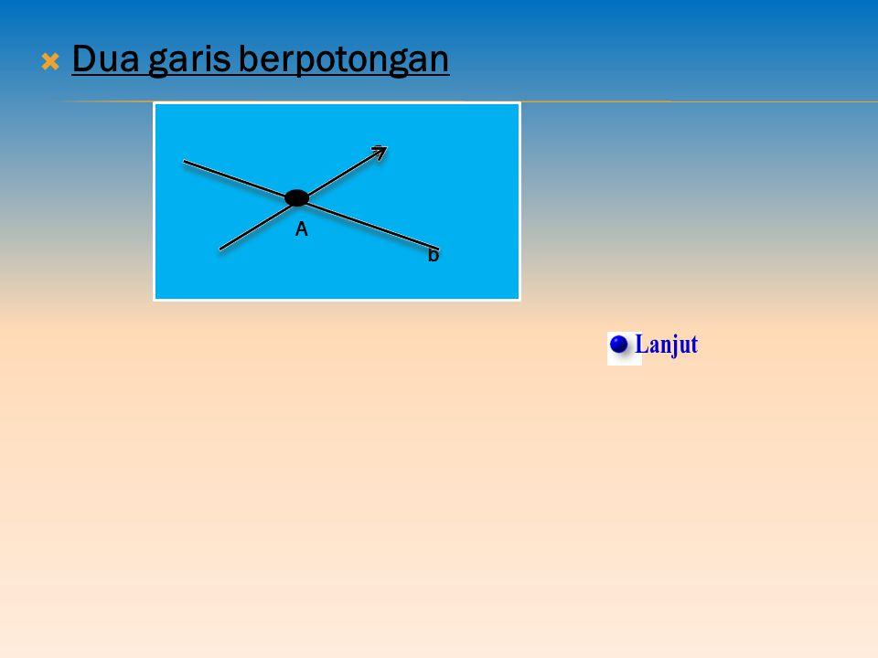 3. KEDUDUKAN GARIS PADA GARIS DALAM RUANG Kemungkinan kedudukan garis pada garis lain adalah:  Dua garis sejajar