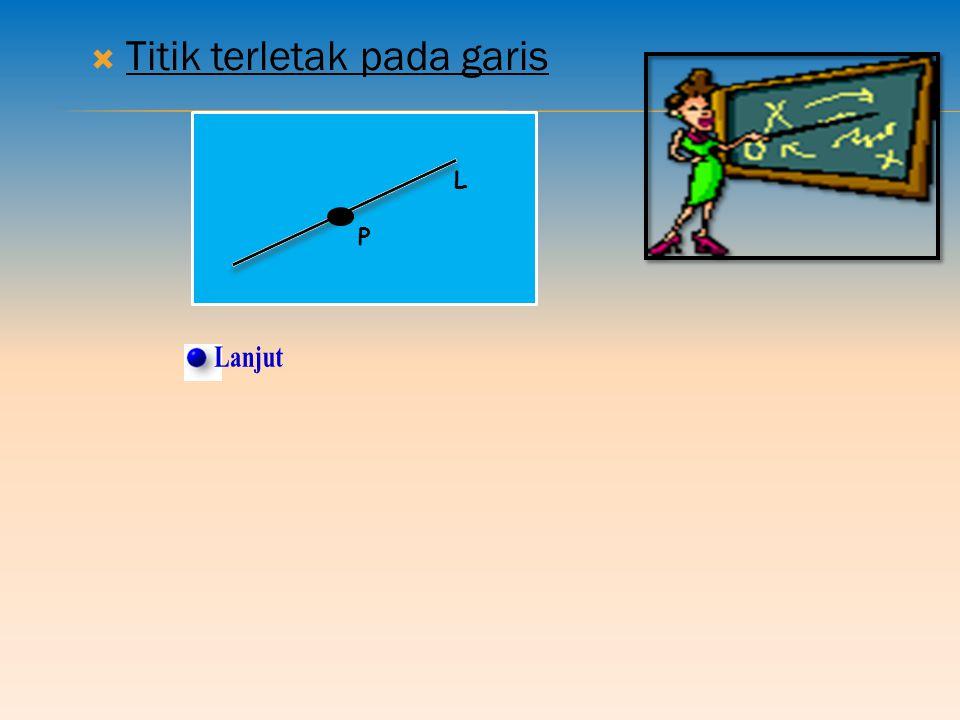 1.KEDUDUKAN TITIK PADA GARIS DALAM RUANG Kedudukan yang mungkin antara titik pada garis adalah: