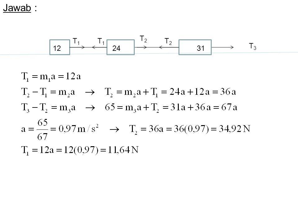 Jawab : T3T3 T2T2 T2T2 T1T1 T1T1 122431