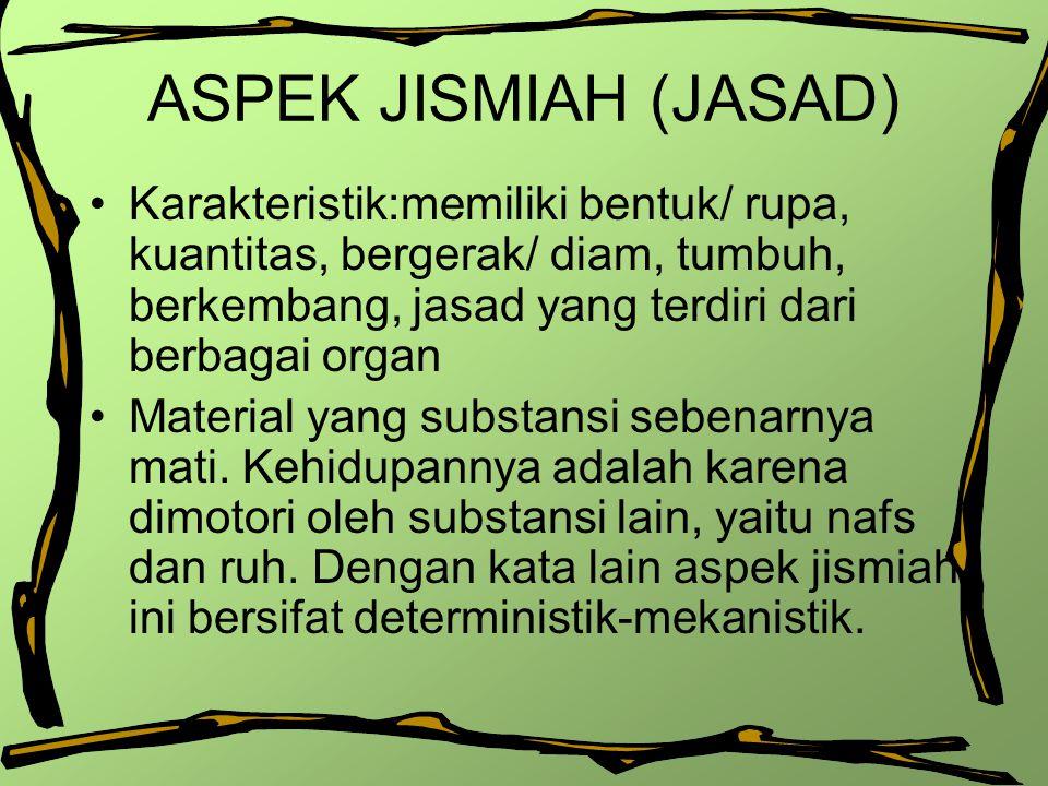 ASPEK RUHANIAH (RUH) Struktur ruh memberikan ciri khas dan keunikan tersendiri bagi psikologi Islam.