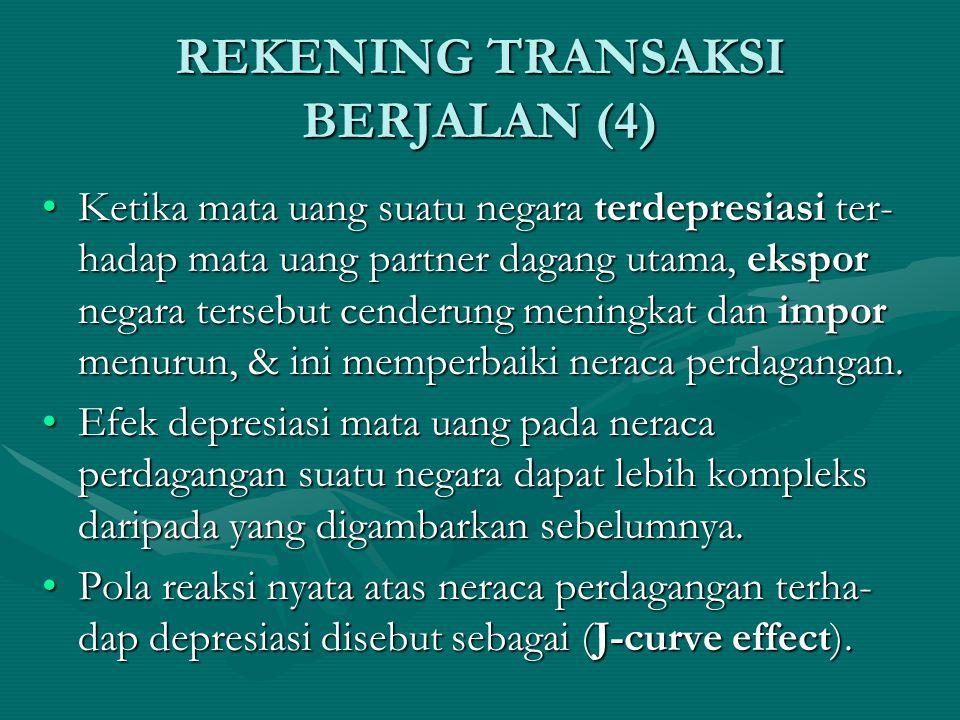 REKENING TRANSAKSI BERJALAN (3) Unilateral transfer hanya mempunyai satu arah arus, tanpa menghilangkan arus.Unilateral transfer hanya mempunyai satu arah arus, tanpa menghilangkan arus.