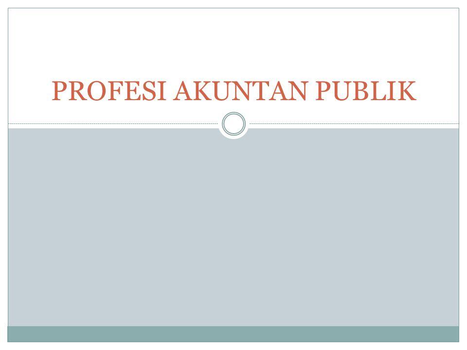 PROFESI AKUNTAN PUBLIK