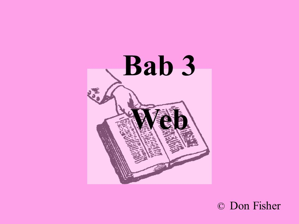 Bab 3 Web © Don Fisher