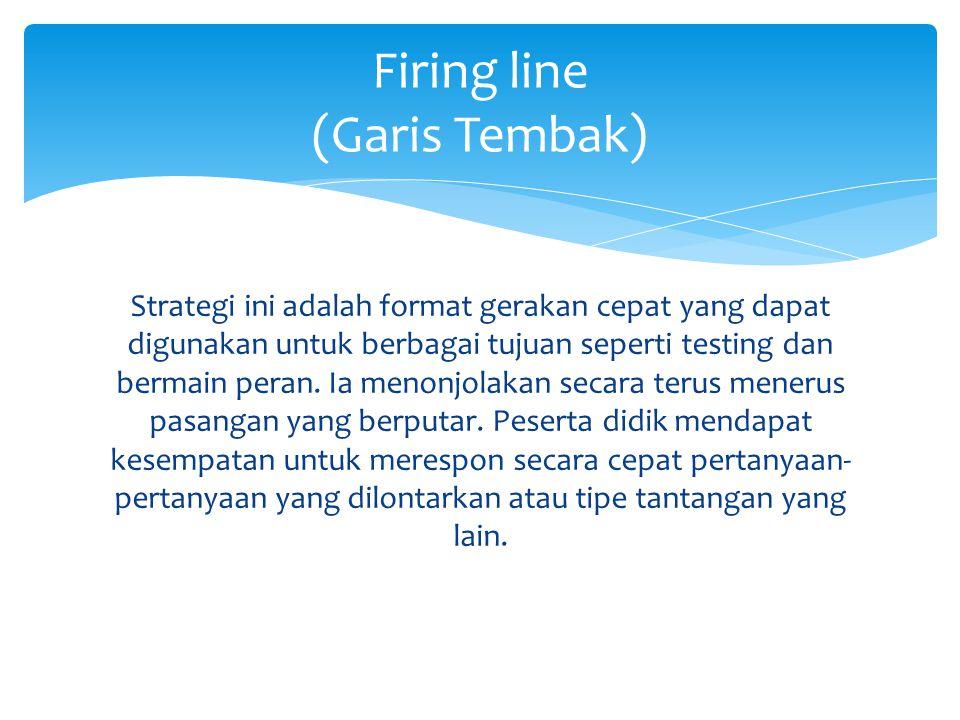 Strategi ini adalah format gerakan cepat yang dapat digunakan untuk berbagai tujuan seperti testing dan bermain peran.