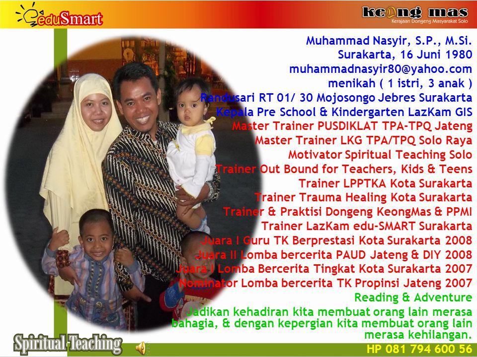 Muhammad Nasyir, S.P., M.Si.