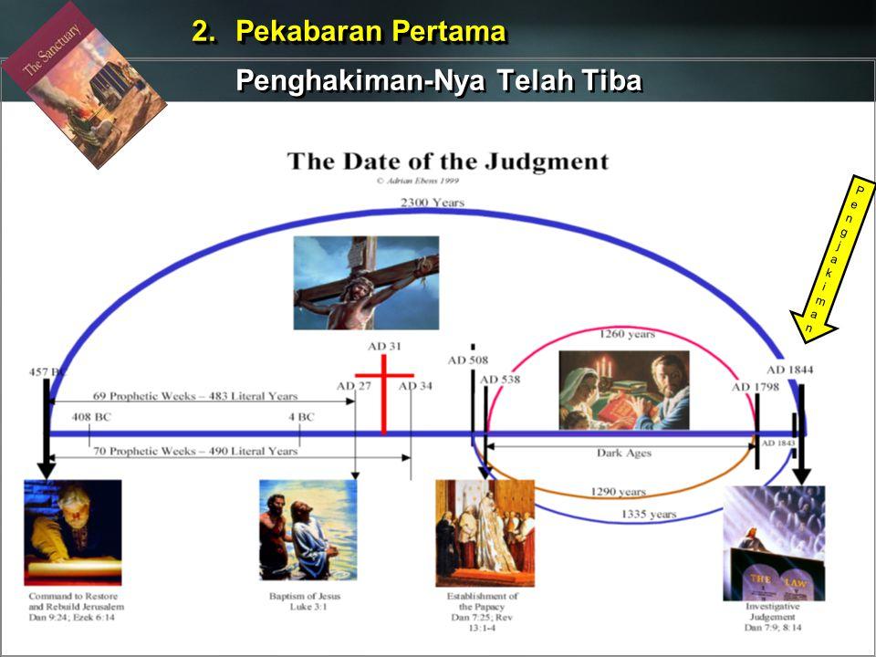 2.Pekabaran Pertama Penghakiman-Nya Telah Tiba 2.Pekabaran Pertama Penghakiman-Nya Telah Tiba PengjakimanPengjakiman