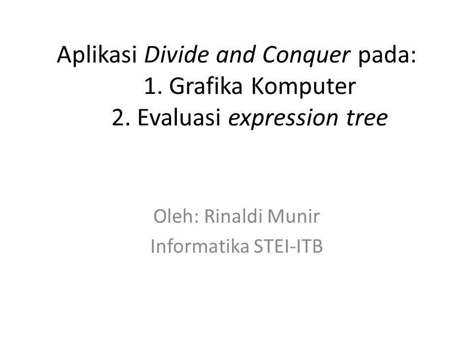 Aplikasi Divide and Conquer pada: 1.Grafika Komputer 2.