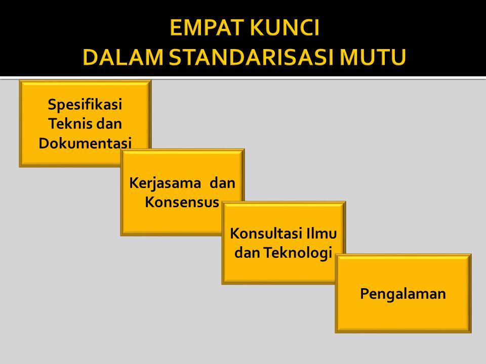 PENETAPAN Penetapan standarisasi, biasanya dengan Surat Keputusan atau Sertifikat dari Menteri atau Kementerian