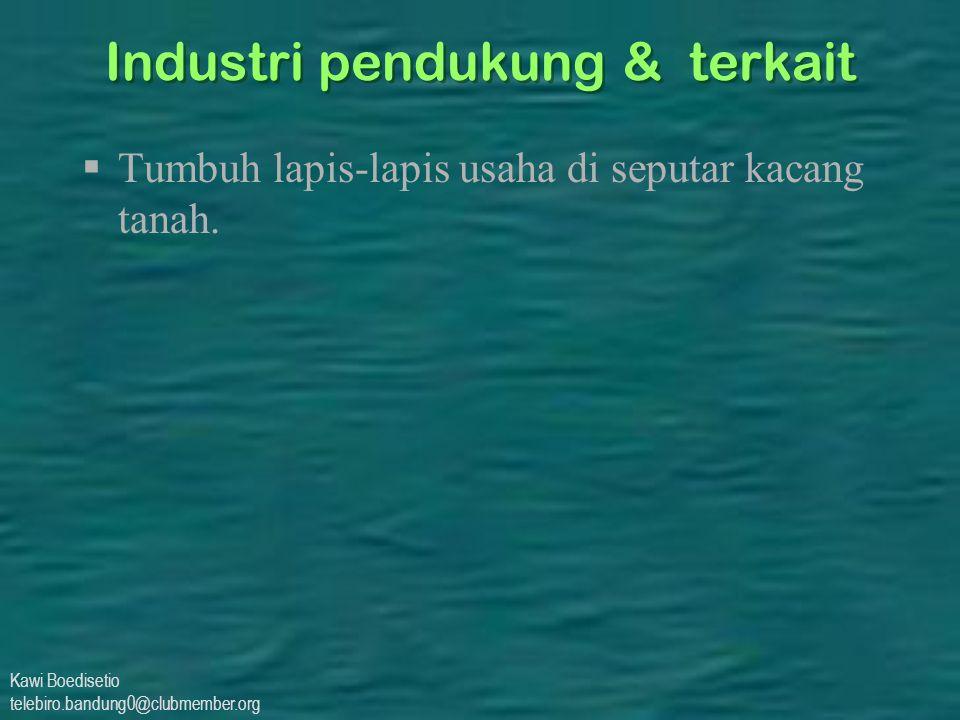 Kawi Boedisetio telebiro.bandung0@clubmember.org Industri pendukung & terkait  Tumbuh lapis-lapis usaha di seputar kacang tanah.