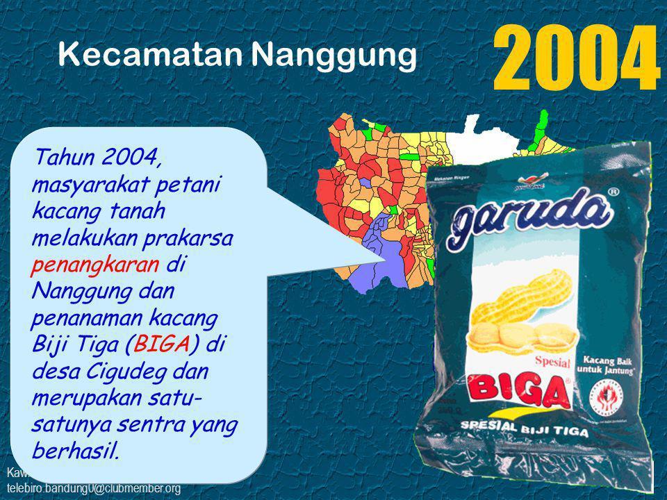 Kawi Boedisetio telebiro.bandung0@clubmember.org Kecamatan Nanggung Tahun 2004, masyarakat petani kacang tanah melakukan prakarsa penangkaran di Nangg