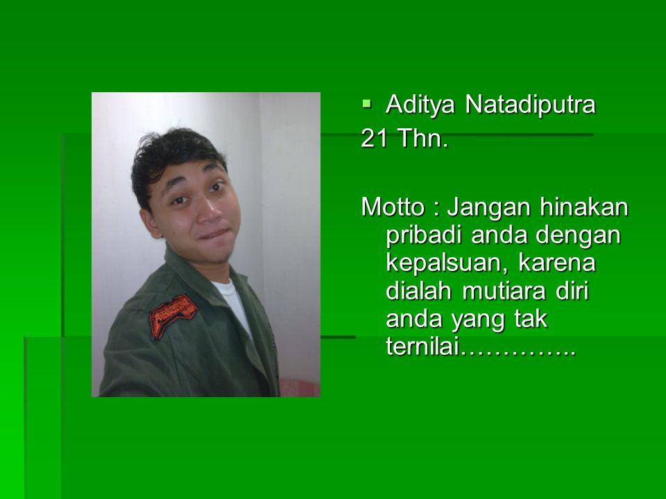  Aditya Natadiputra 21 Thn.