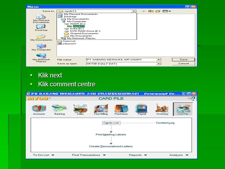  Klik next  Pilih point ke 3  Klik next  Simpan file perusahaan beserta foldernya dengan mengklik change