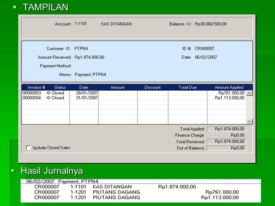 2. MENERIMA PIUTANG  Caranya :  Aktifkan Modul Sales  Klik Received Payments  Deposite to account > Tentukan kas pembayar  Customer > Tentukan na