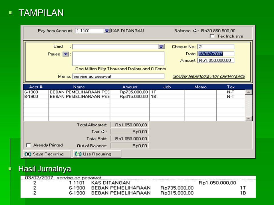 4. PENGELUARAN BIAYA  Caranya :  Aktifkan Modul Banking  Pilih Spend Money  Date > Tentukan tanggal transaksi  Amount > Tentukan jumlah uang yang