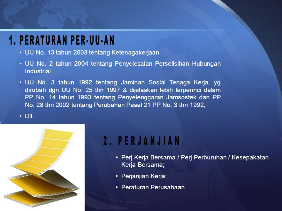 UU No.13 tahun 2003 tentang Ketenagakerjaan UU No.