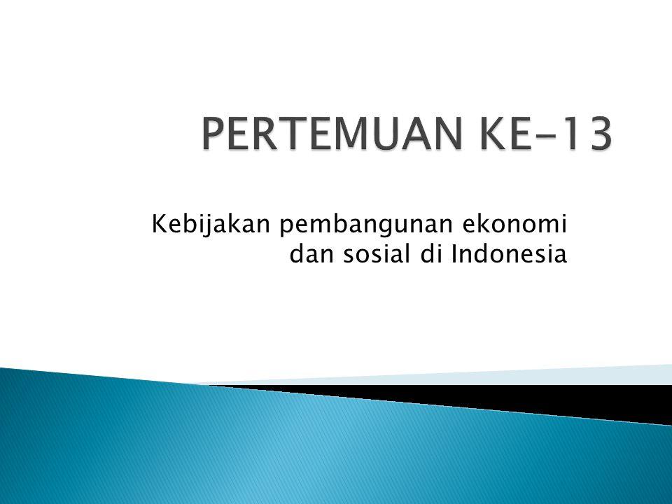 Kebijakan pembangunan ekonomi dan sosial di Indonesia