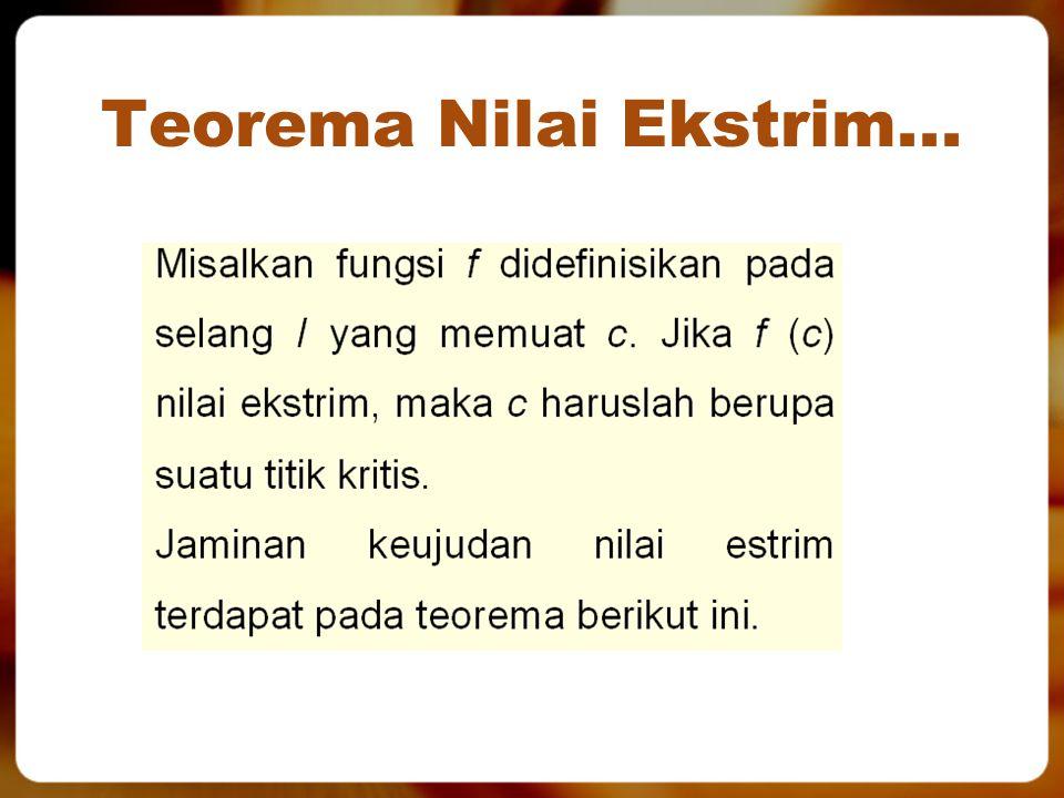 Teorema Nilai Ekstrim...