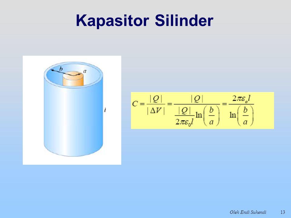 Oleh Endi Suhendi13 Kapasitor Silinder