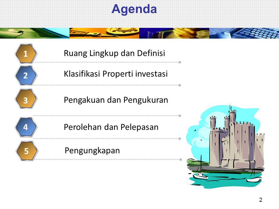 Klasifikasi Properti Investasi  Dalam satu properti sebagian memenuhi kriteria properti investasi dan sebagian lain TIDAK meneuhi kriteria properti investasi.