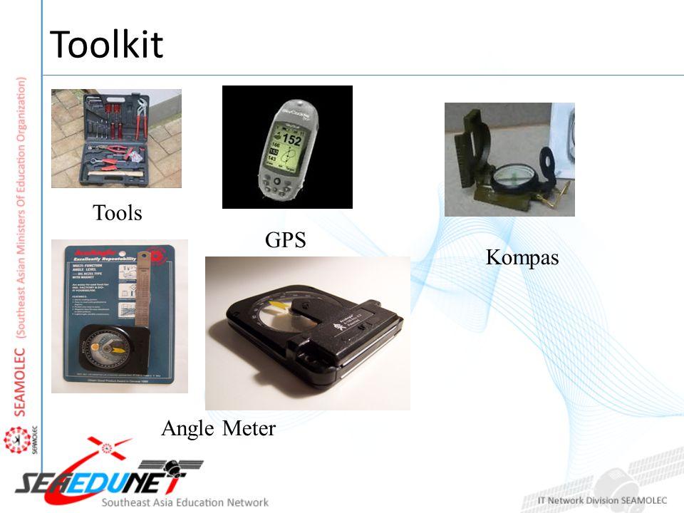 Toolkit Tools GPS Angle Meter Kompas