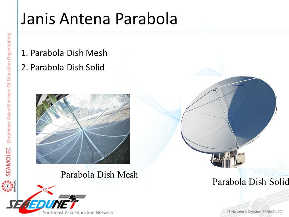 Janis Antena Parabola 1. Parabola Dish Mesh 2. Parabola Dish Solid Parabola Dish Mesh Parabola Dish Solid