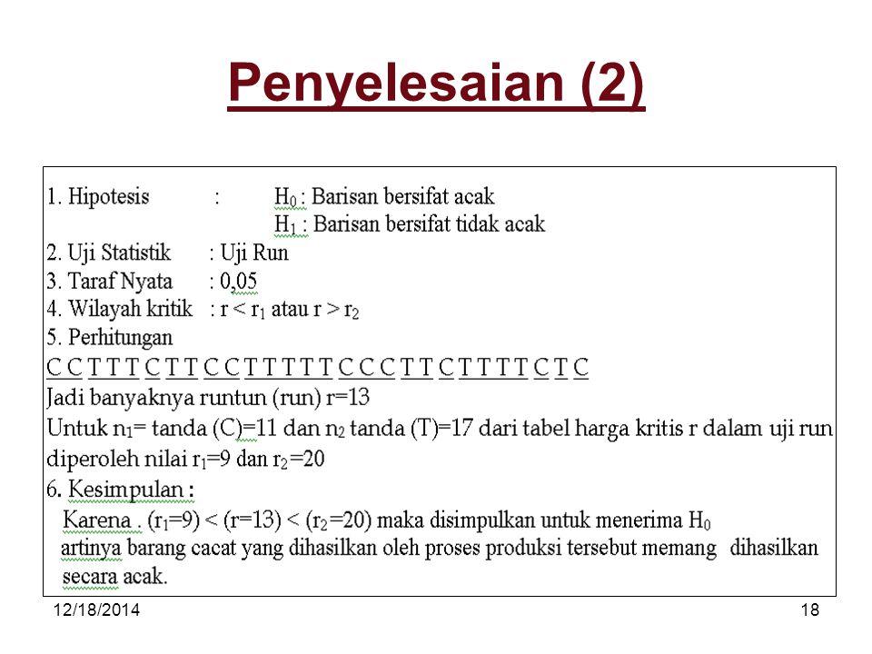 12/18/201418 Penyelesaian (2)