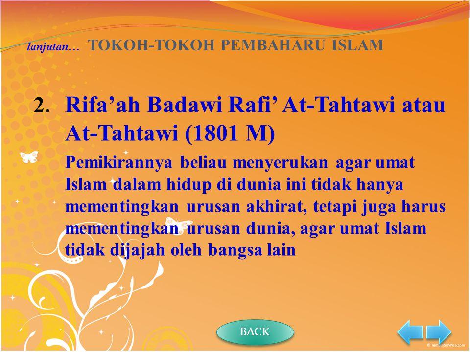 lanjutan… TOKOH-TOKOH PEMBAHARU ISLAM 2.