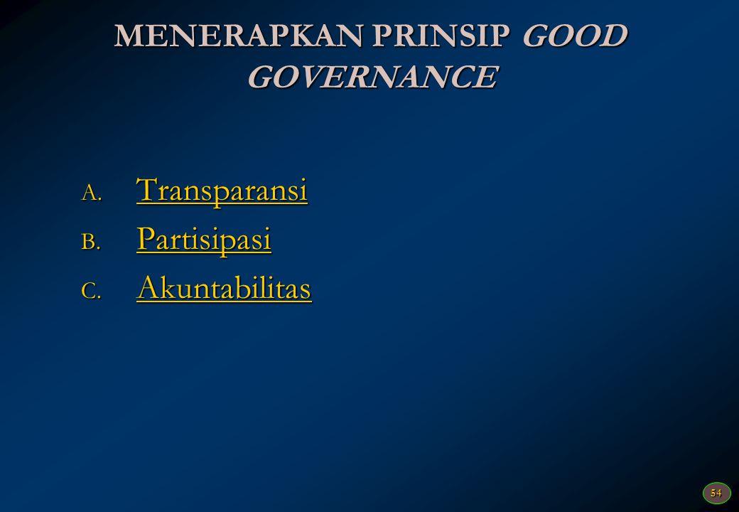 53 Pelaksanaan (2) Pelaksanaan program dan kegiatan berpedoman terhadap dokumen perencanaan yang disepakati sehingga terdapat keberlanjutan program/ke