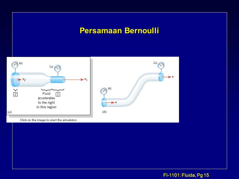 FI-1101: Fluida, Pg 15 Persamaan Bernoulli