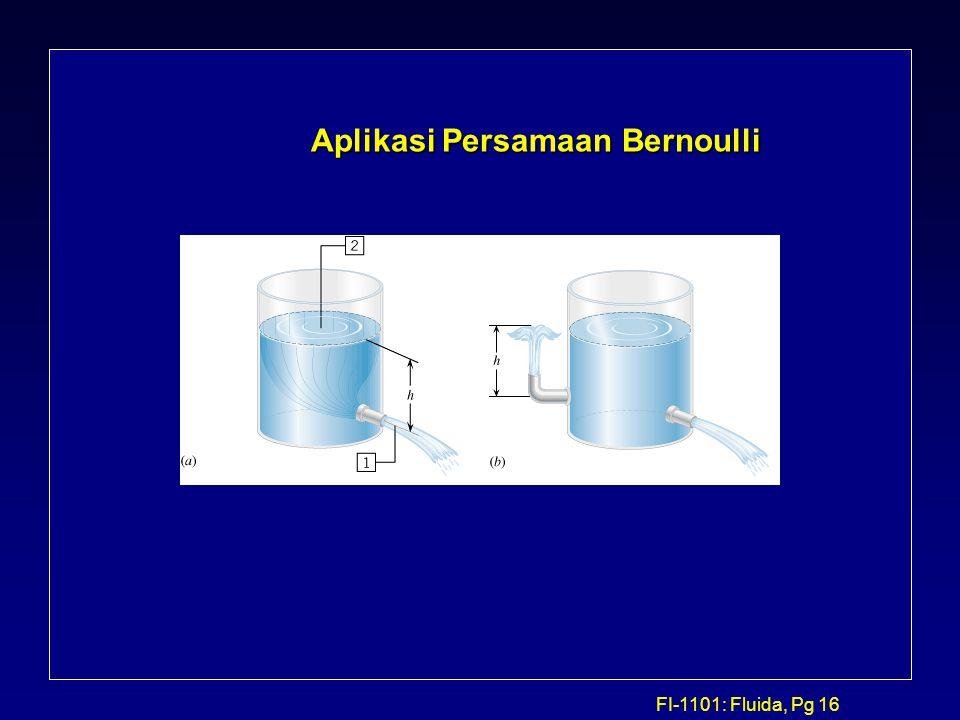 FI-1101: Fluida, Pg 16 Aplikasi Persamaan Bernoulli