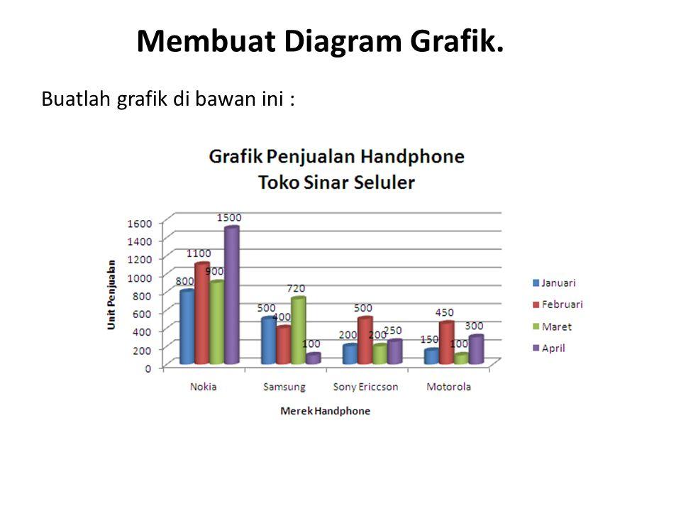 Membuat Diagram Grafik. Buatlah grafik di bawan ini :