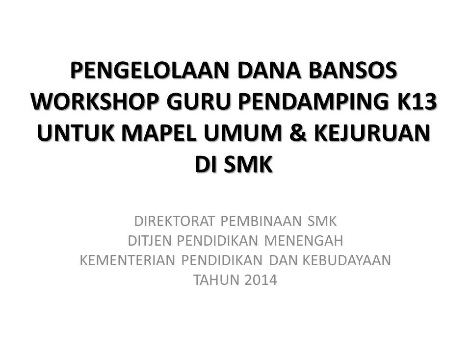 PROGRAM PENDAMPINGAN K13 SMK DIT.