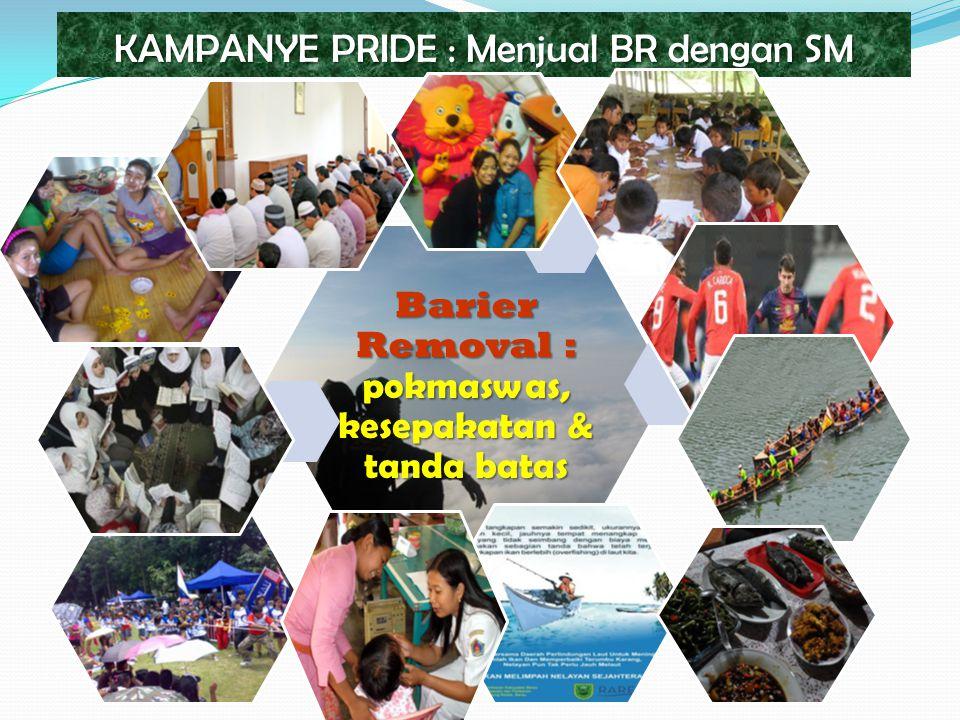 KAMPANYE PRIDE : Menjual BR dengan SM Barier Removal : pokmaswas, kesepakatan & tanda batas