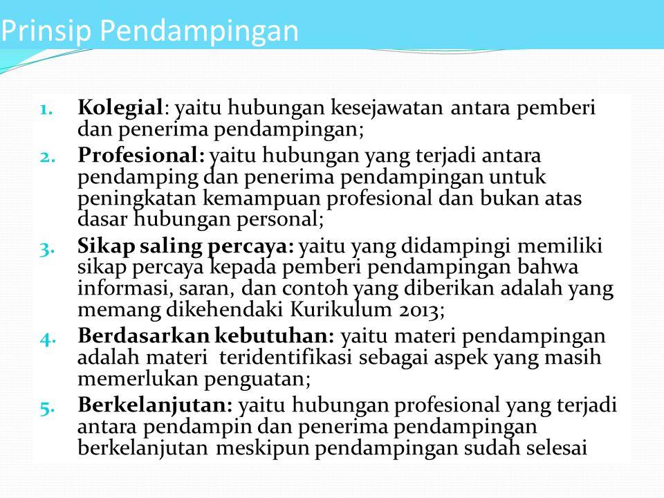 1. Kolegial: yaitu hubungan kesejawatan antara pemberi dan penerima pendampingan; 2. Profesional: yaitu hubungan yang terjadi antara pendamping dan pe