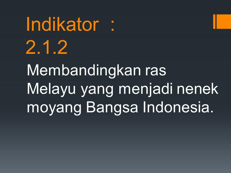 Identifikasi kebudayaan nenek moyang bangsa indonesia yang dibawa dari daratan Asia..