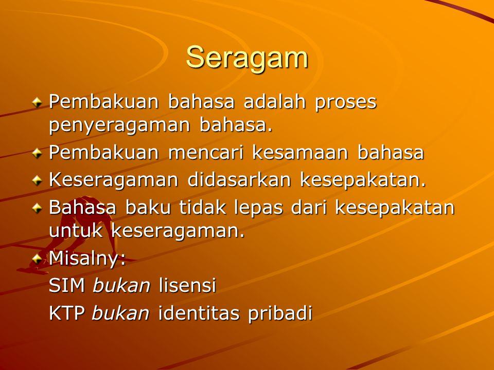 Ragam Sosial dan Ragam Fungsional Ragam sosial adalah ragam bahasa yang disepakati sebagian normanya untuk digunakan di lingkungan sosial terbatas.