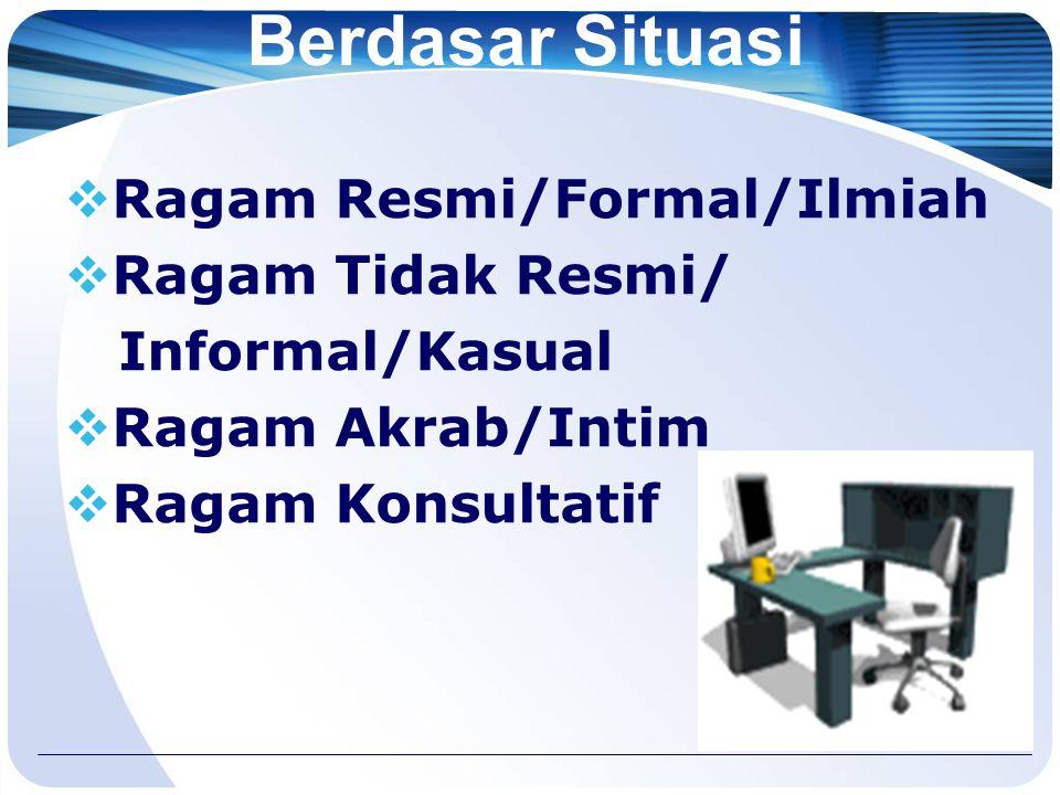 Berdasar Waktu  Ragam Indonesia Lama  Ragam Indonesia Baru