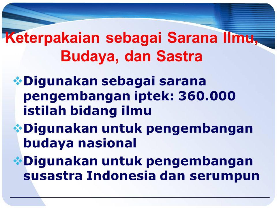Luas Penyebaran BI 1.Tersebar di seluruh Indonesia: 220 juta 2.Tersebar di luar negeri:  Brunei  Malaysia  Australia  Timor Leste  Belanda  Rusi