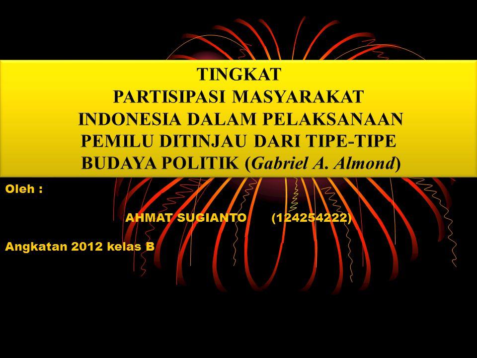 Oleh : AHMAT SUGIANTO (124254222) Angkatan 2012 kelas B