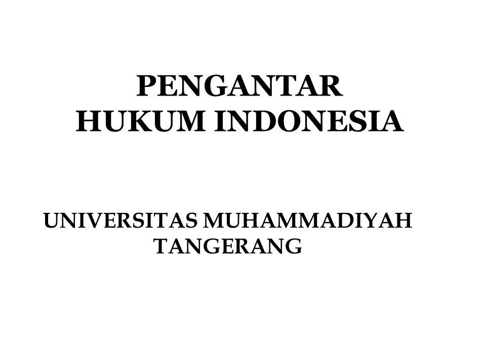 Menurut UUD 1945 setelah berlakunya UUDS 1950 Dengan berlakunya kembali Undang-Undang Dasar 1945, maka secara otomatis berlaku pula ketentuan Pasal II Aturan Peralihan yang memperlakukan kembali tata hukum yang pernah ada di negara Republik Indonesia dan tidak bertentangan dengan ketentuan-ketentuan Undang-Undang Dasar 1945.