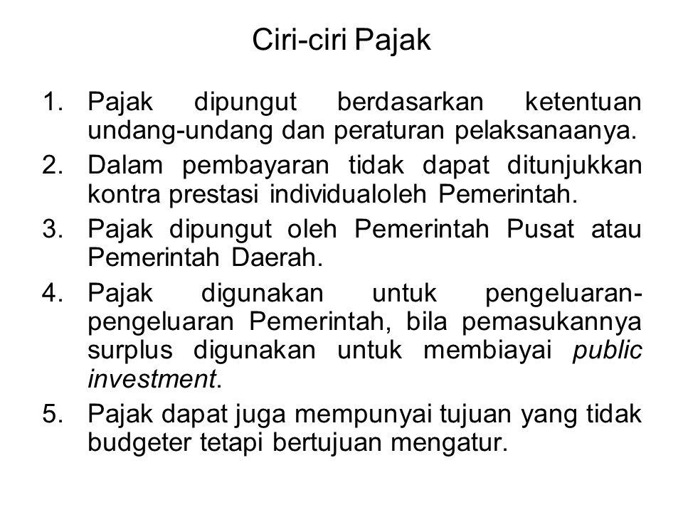 HUKUM PAJAK Hukum Pajak adalah keseluruhan peraturan-peraturan yang mengatur tentang mekanisme perpajakan yaitu menentukan tentang bagaimana pajak har