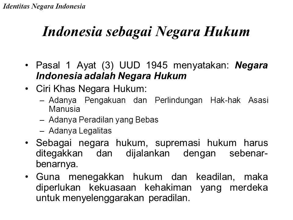 Indonesia sebagai Negara Kesejahteraan Tercermin dalam pembukaan UUD 1945 alinea empat bahwa Pemerintah Negara Indonesia melindungi segenap bangsa Ind