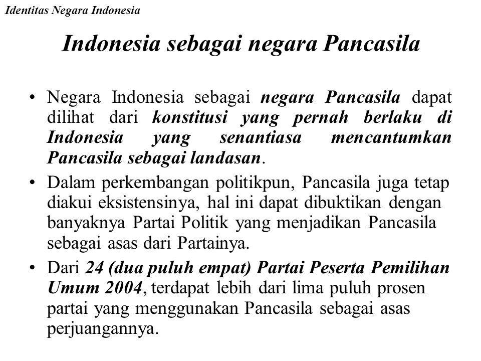 Indonesia sebagai Negara Hukum Pasal 1 Ayat (3) UUD 1945 menyatakan: Negara Indonesia adalah Negara Hukum Ciri Khas Negara Hukum: –Adanya Pengakuan da