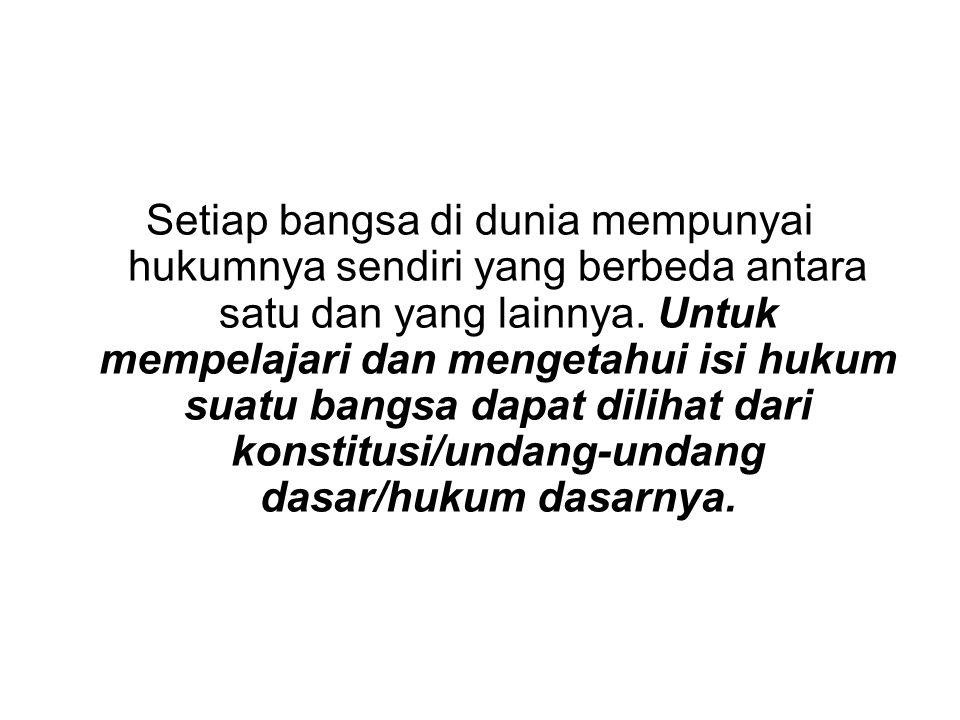 Indonesia sebagai negara Pancasila Negara Indonesia sebagai negara Pancasila dapat dilihat dari konstitusi yang pernah berlaku di Indonesia yang senan