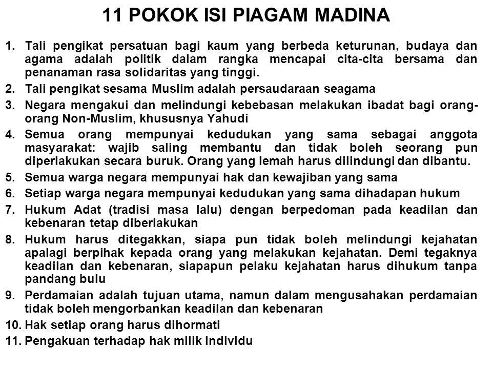 PERKEMBANGAN HAM DI DUNIA Tahun 622 Piagam Madina (Saudi Arabia) Tahun 1215 Magna Charta (Inggris) Tahun 1689 Bill of Rights Tahun 1789 Declaration de