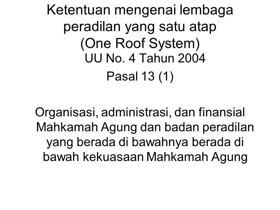 BAGAN LEMBAGA PERADILAN KHUSUS MAHKAMAH AGUNG UU No. 14 / 1985 sebagaimana diubah dengan UU No. 5 / 2004 Lingkungan Peradilan Umum UU No. 2 / 1986 seb