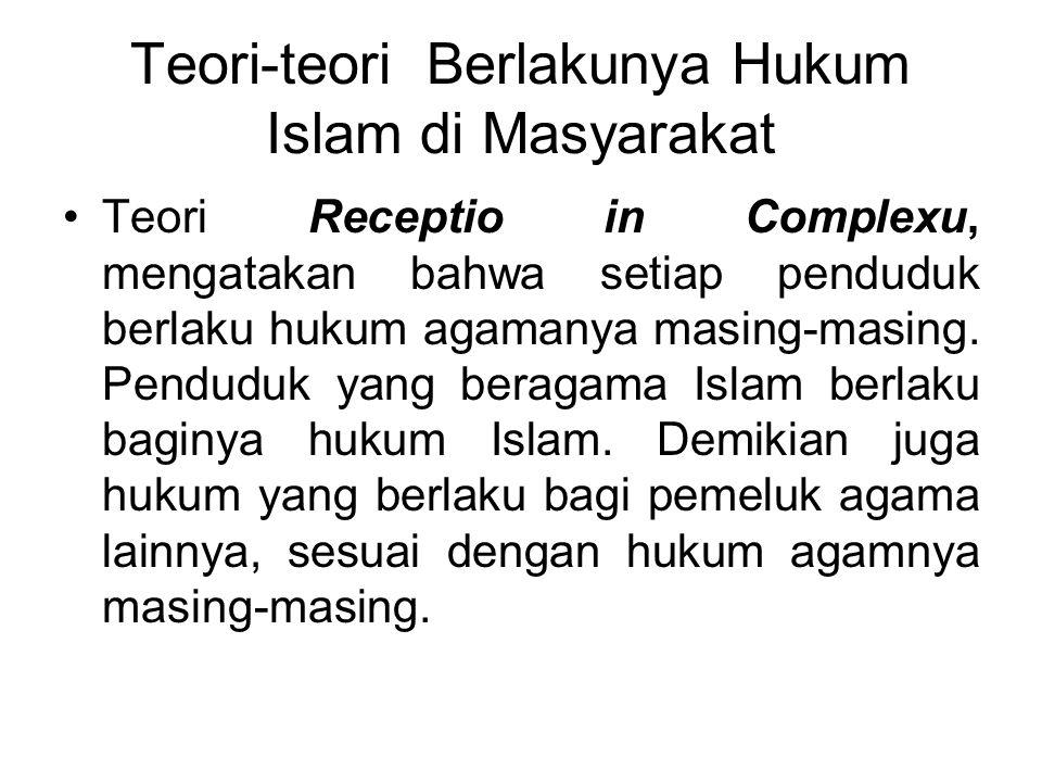 Sumber Hukum Islam 1.Al Qur'an, sebagai kitab suci umat Islam yang diwahyukan oleh Allah kepada Nabi Muhammad melalui perantaraan malaikat Jibril. 2.S