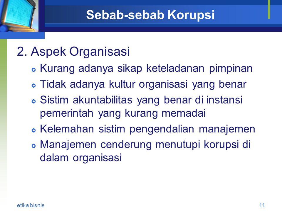 Sebab-sebab Korupsi 2.