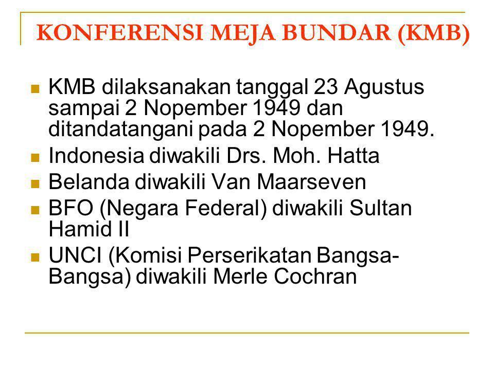 PERUNDINGAN ROEM – ROEYEN Terjadi karena adanya Agresi Militer Belanda II tanggal 19 Desember 1948 yang mengakibatkan Presiden Ir Soekarno, Wapres Moh
