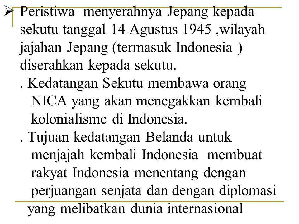 A.KONFLIK INDONESIA - BELANDA